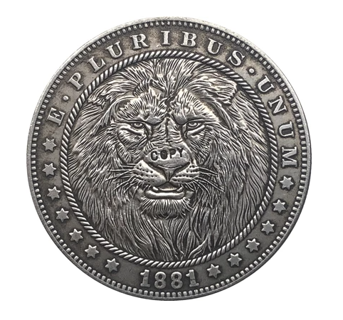 Primary image for Hobo Nickel 1881-CC USA Morgan Dollar Lion Horror COPPY COIN For Gift