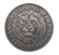 Hobo Nickel 1881-CC USA Morgan Dollar Lion Horror COPPY COIN For Gift - $5.99
