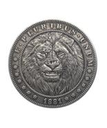 Hobo Nickel 1881-CC USA Morgan Dollar Lion Horror COPPY COIN For Gift - $5.99