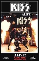 KISS Band ALIVE! Cobo Hall Jan 25th 1976 Stand-Up Display - Rock Concert... - $15.99