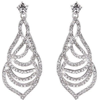 Primary image for  Youfir Bridal Austrian Rhinestone Flower Dangle Earrings For Bridesmaids