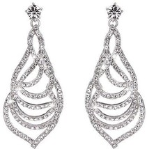 Youfir Bridal Austrian Rhinestone Flower Dangle Earrings For Bridesmaids - $36.98