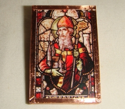 St Patrick Brooch Stained Glass Pin inv1945 - $15.00