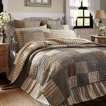 Sawyer Mill Charcoal Quilt - VHC Brands