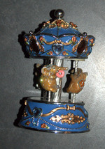 Vintage Decorated Enamel Jeweled Elephant Carousel Music Box  image 3