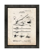 Pen or Pencil Grip Patent Print Old Look with Beveled Wood Frame - $24.95+