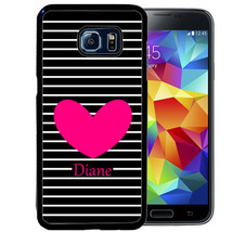 PERSONALIZED PHONE CASE FOR SAMSUNG NOTE 8 5 4 RUBBER COVER BLACK STRIPE... - $12.98