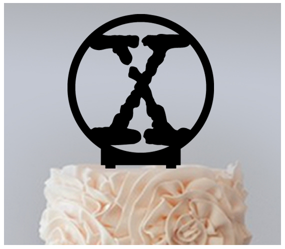 Decorations Wedding,Birthday Cake topper,Cupcake topper, The X Files  : 11 pcs