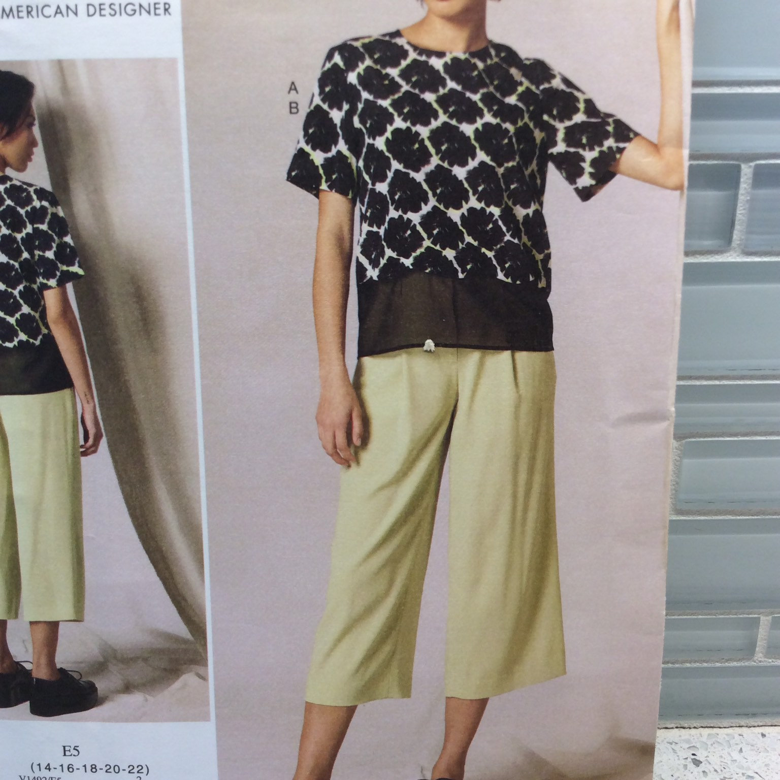 Vogue Sewing Pattern DKNY Donna Karan V1492 E5 14 16 18 20 22 Loose Fitted Top a image 3