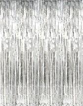 Metallic Silver Fringe Curtains Kangaroo - ₨631.84 INR