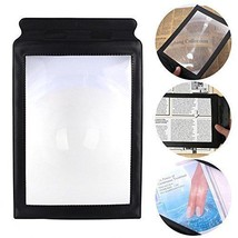 Jinon A4 Magnifier,Full Page Large Sheet Magnifying Glass Reading Aid Le... - $12.11