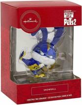 Hallmark Christmas Tree Ornament Secret Life Of Pets 2 Snowball 2019 Red... - $9.95