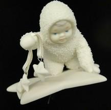 Dept 56 Snowbabies Ornament Snow Baby Kneeling over Star Holding Stars S... - $16.82