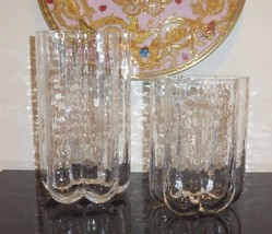 Vintage Sea Glass Rune Strand Pair of Pauline Vase Sweden - $39.00
