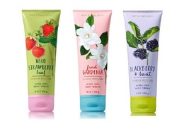 3 Bath & Body Works Shea Cream Blackberry Basil, Fresh Gardenia, Strawbe... - $26.99