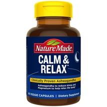 Nature Made Calm & Relax W 300mg Magnesium and 125mg Ashwagandha 60 Veggie Caps+ - $25.73