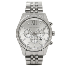 Michael Kors MK8405 Lexington Silver Tone Stainless Steel Men's Watch - $352.08