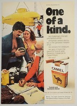 1977 Print Ad Camel Filter Cigarette Man & Lady Small Research Submarine - $11.56