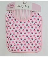 Baby Ganz BG3191 OohLaLa Bib Pink Cupcake Designs 0 Plus 100 Percent Cotton - $8.00