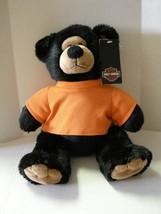 "Harley-Davidson Bear, Stuffed Animal, Black W/Orange T-Shirt, 14"", Brand... - $12.99"