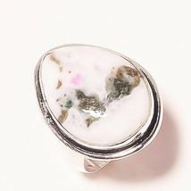 """Lavish Moss Agate Gemstone Fashion Ethnic Jewelry Ring S-7.75"""" AU-19 - $4.68"""