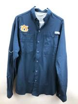 Columbia Pfg Performance Fishing Gear University Of Auburn Button Front Shirt Sz - $20.91