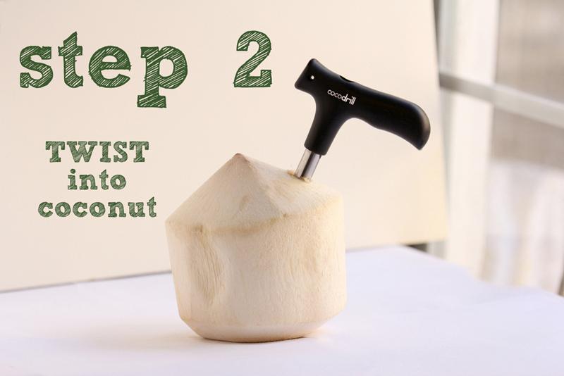 CocoDrill Coconut Opening Opener Tool + 2 Nut Milk Strainer Bags Coco Water