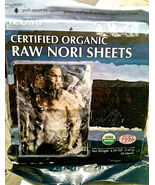 Raw Organic Nori 100 full sheets non Toasted VEGAN sushi wrap paper roll... - $39.99