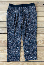 Ann Taylor Loft Women's Lightweight Floral Patterned Pants Size 10P Black - $16.73