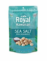 Royal Hawaiian Orchards Macadamias, Sea Salt, 4 Ounce Pack of 6