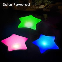 Cootway Solar Powered Pool Lights, 17'' Inflatable Waterproof Star Night Lights,