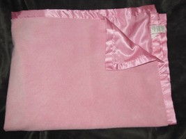 "Little Me pink Chamois Suede-feel Satin Baby Girl Blanket Lovey 30"" x 40"" - $39.59"