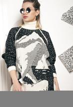 Polar bear knit jumper - 80s vintage North Pole sweater - $36.40