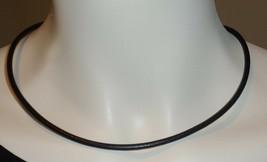 "Joan Rivers Gold Plate & Black Leather Adjustable Length Necklace 16 - 19.25"" - $19.99"