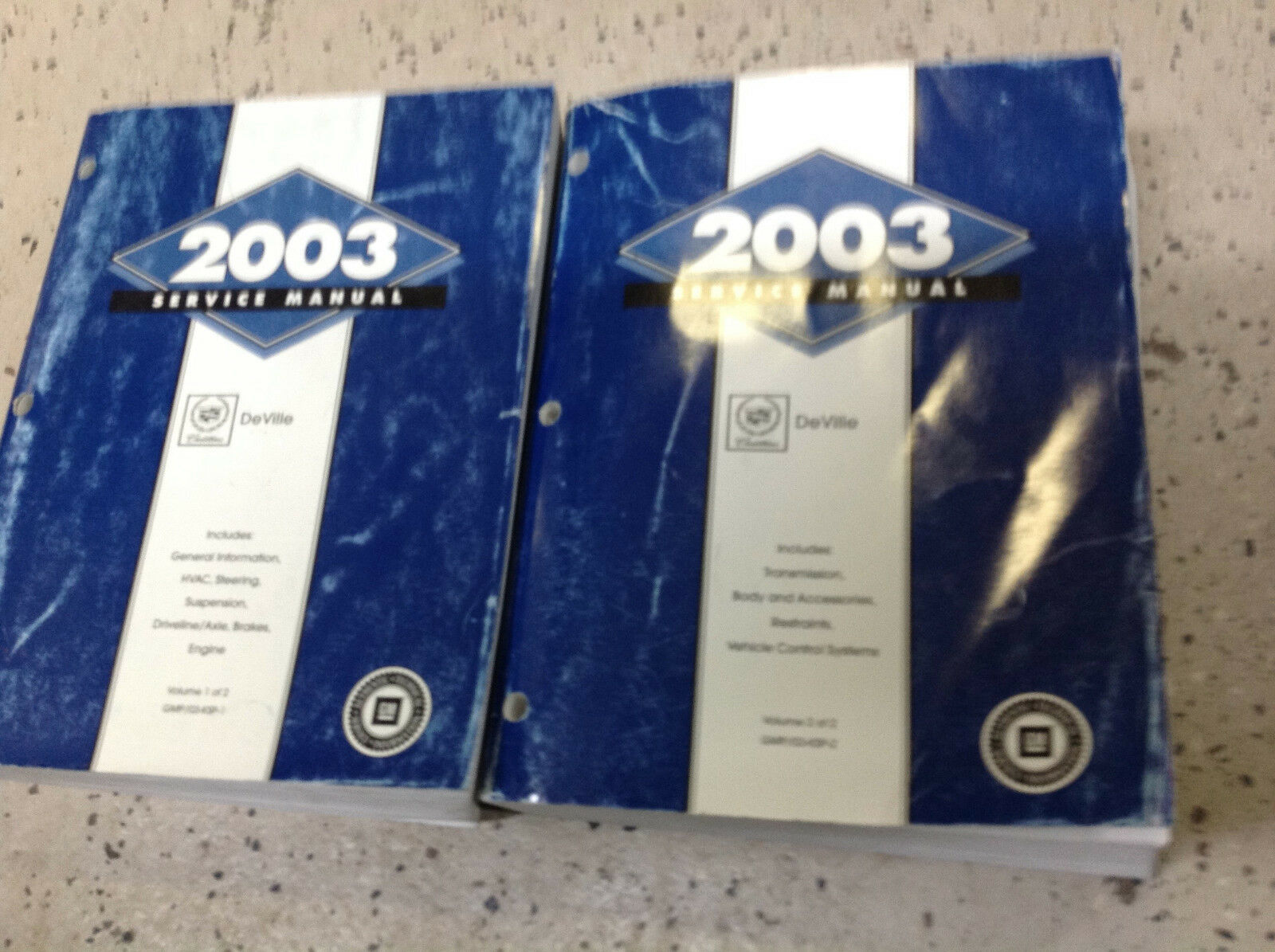 Primary image for 2003 Cadillac DEVILLE Service Repair Shop Workshop Manual Set OEM Factory
