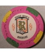 "$5.00 Casino Chip From: ""Jessie Beck's Riverside Casino & Hotel"" - (SKU#... - $4.99"