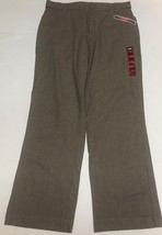 Lee Comfort Fit Casual Pants Women's Sz 14M Gray Small Plaid image 2