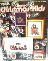 Charted Christmas Kid Cross Stitch Pattern Book Vintage - $7.83