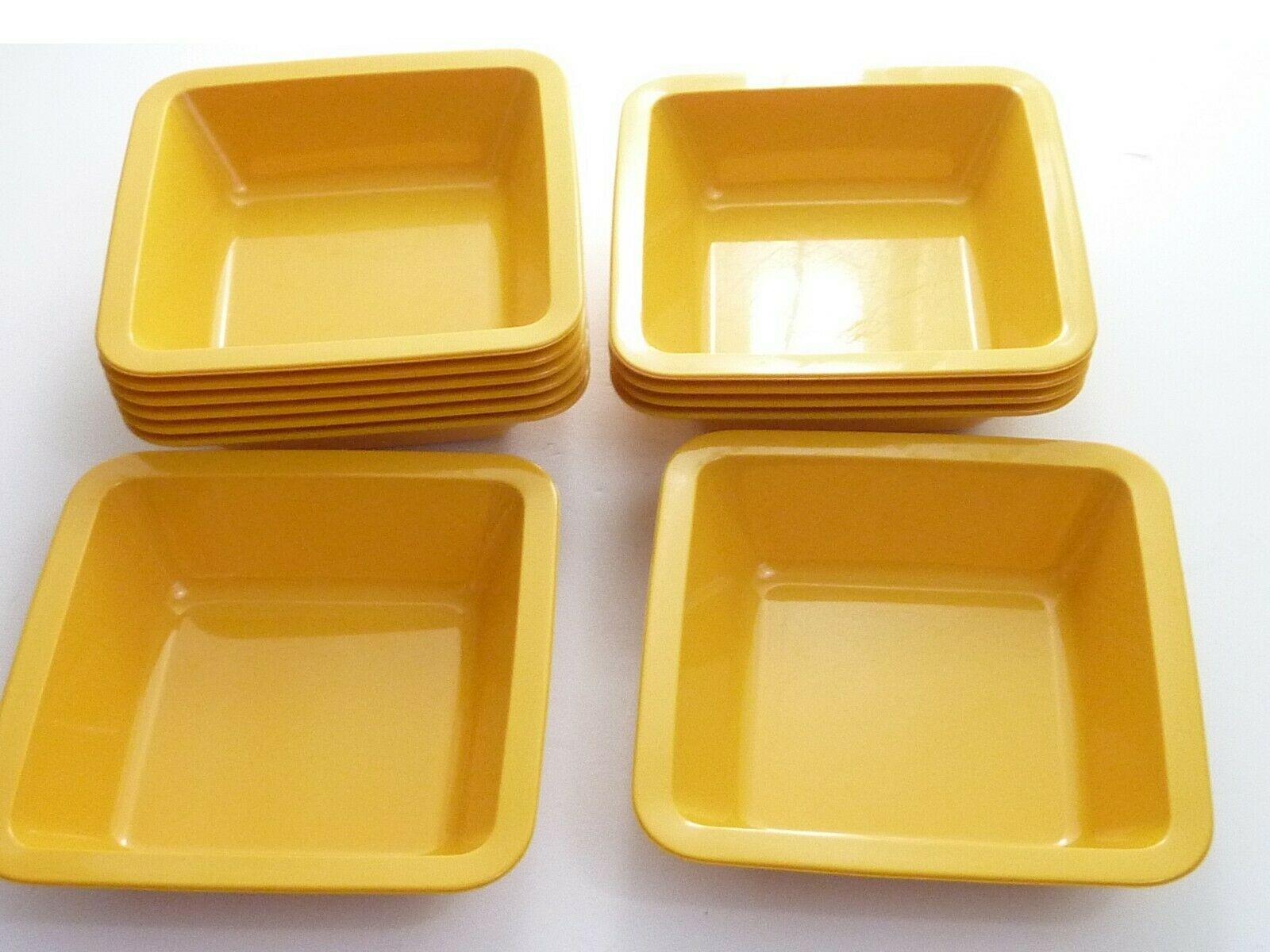Vintage mid century modern Finland Sarvis Yellow Snack Bowls