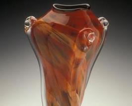 Rosetree Vortex Art Glass Vase - $695.00