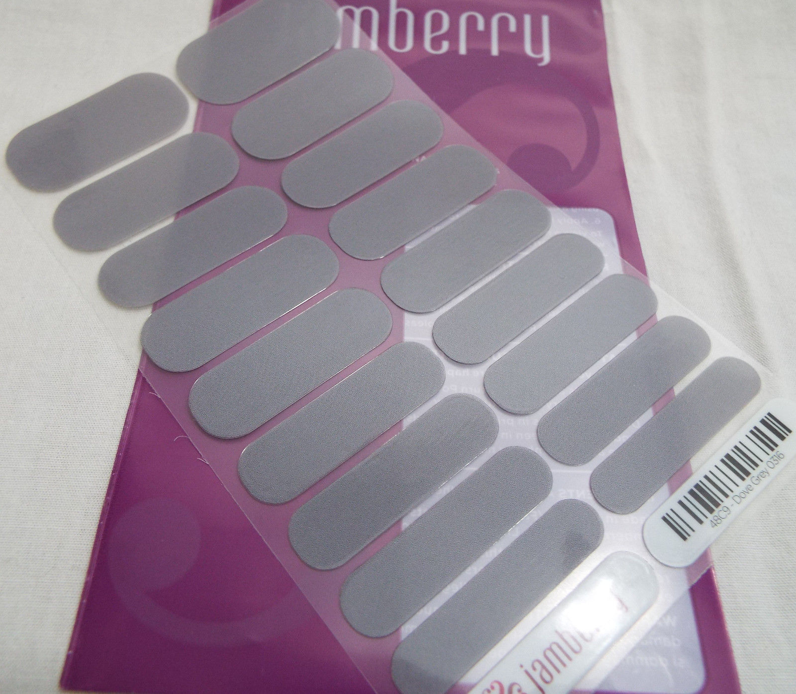 Primary image for Jamberry Dove Grey 0316 48C9 Nail Wrap Full Sheet
