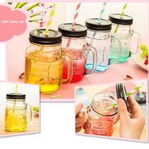 HelloKIMI 1PCS Vintage Mason Jar Juice Cocktail Tea Glass - $28.95