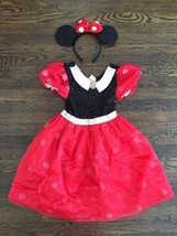 ! Minnie Mouse Classic Red Disney Store Costume Dress Up with ears/bow h... - £10.74 GBP