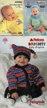 3X Knit Toddler Baby Brights Pretty Baby Machine Knits Pattern Booklets - $12.99
