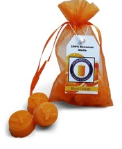 6 Piece Blood Orange Scented Beeswax Melts Hand Poured by Hubbardston Candle Co  - £6.35 GBP