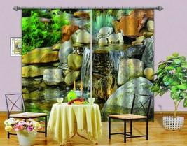 3D Stone  ond 0430 Blockout Photo Curtain Print Curtains Drapes Fabric Window UK - $145.49+