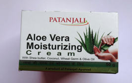 6x Patanjali Aloe Vera Moisturizing Cream 50gm for skin dryness roughnes... - $20.72