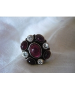 HAUNTED MALE INCUBUS FALLEN ANGEL VINTAGED SILVER GARNET CZ RING SIZE 6.5 MEET A - $192.00