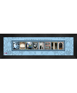 Personalized Columbia University Campus Letter Art Framed Print - $39.95