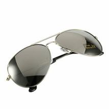 Occhiali da Sole da Uomo Aviator Specchio da Pilota Moda Classic Argento Silver - $6.61